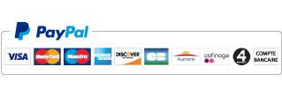 Logo cartes de crédits acceptées PayPal
